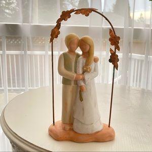 Hippie Bride & Groom Clay Wedding Cake Topper